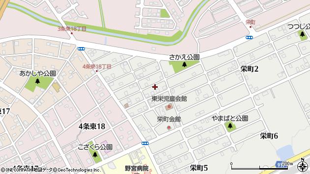 〒068-0821 北海道岩見沢市栄町の地図