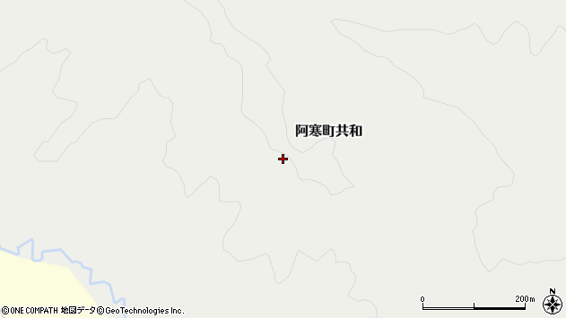 〒085-0206 北海道釧路市阿寒町共和の地図