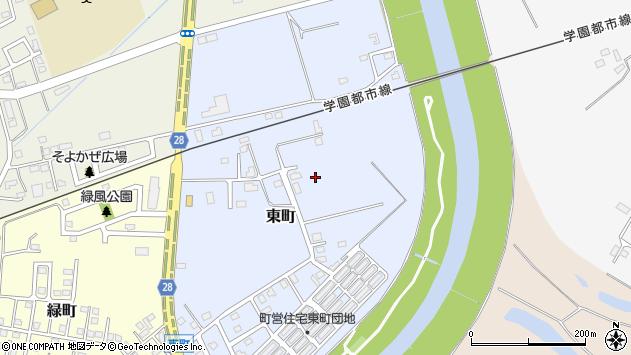 〒061-0221 北海道石狩郡当別町東町の地図