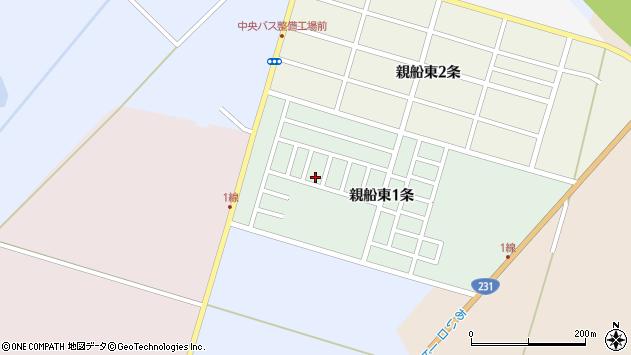 〒061-3365 北海道石狩市親船東一条の地図