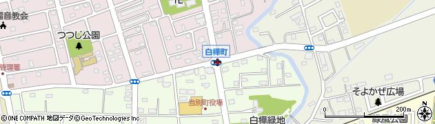 白樺町周辺の地図