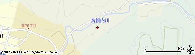 奔幌内川周辺の地図