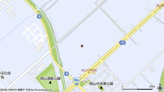 〒068-2165 北海道三笠市岡山の地図