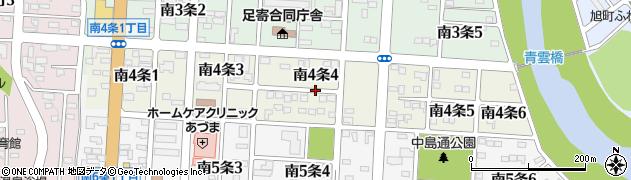 北海道足寄郡足寄町南4条4丁目周辺の地図