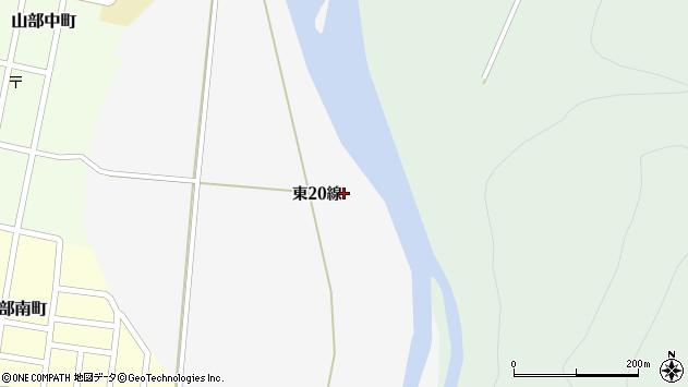 〒079-1582 北海道富良野市山部東22線の地図