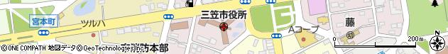 北海道三笠市周辺の地図