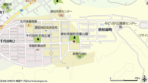 〒068-2133 北海道三笠市唐松常盤町の地図
