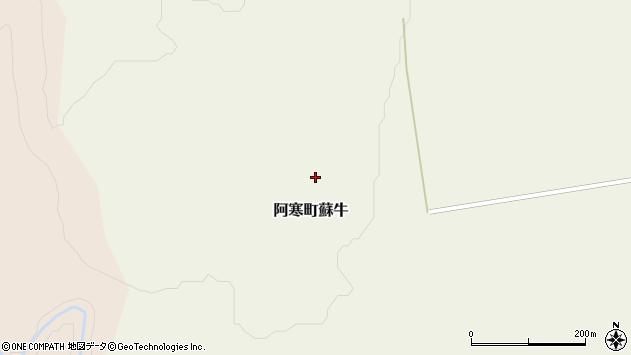 〒085-0234 北海道釧路市阿寒町蘇牛の地図