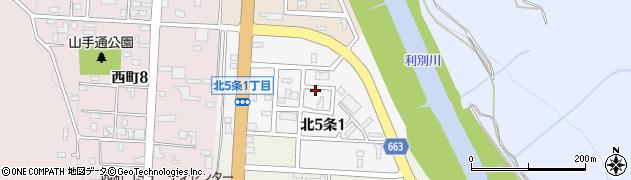 北海道足寄郡足寄町北5条1丁目周辺の地図