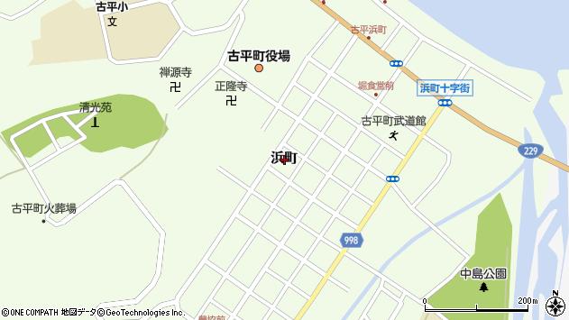 〒046-0121 北海道古平郡古平町浜町の地図