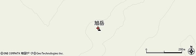 旭岳周辺の地図