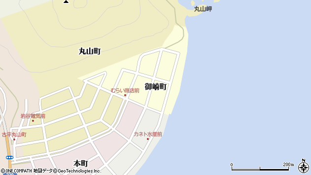 〒046-0101 北海道古平郡古平町御崎町の地図