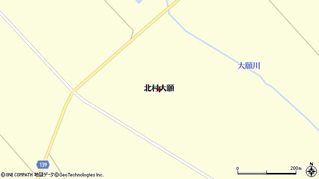〒068-1203 北海道岩見沢市北村大願の地図