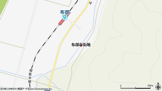 〒076-0004 北海道富良野市布部市街地の地図