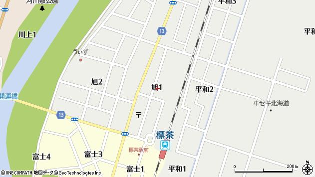 〒088-2301 北海道川上郡標茶町旭の地図
