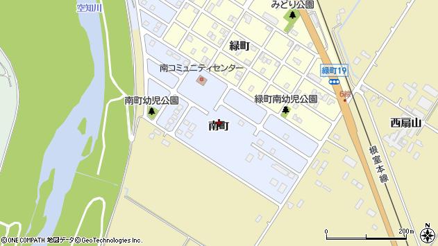〒076-0007 北海道富良野市南町の地図