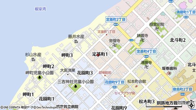 〒087-0047 北海道根室市定基町の地図
