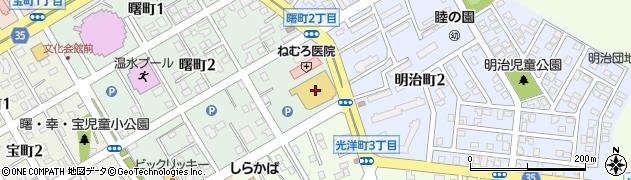 コープねむろ店周辺の地図