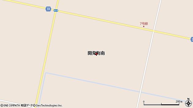 〒072-0045 北海道美唄市開発町南の地図