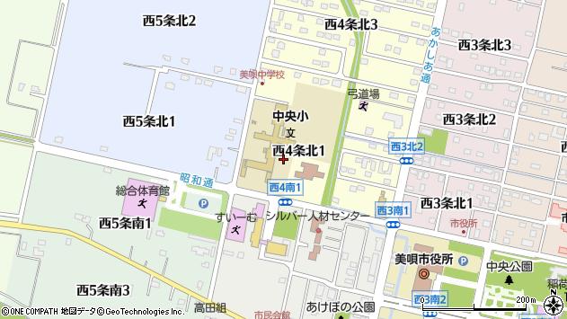 〒072-0033 北海道美唄市西四条北の地図