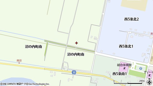 〒072-0036 北海道美唄市沼の内町南の地図