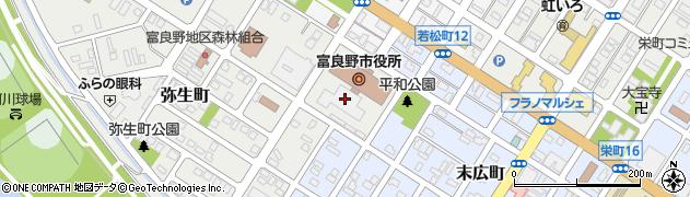 北海道富良野市周辺の地図