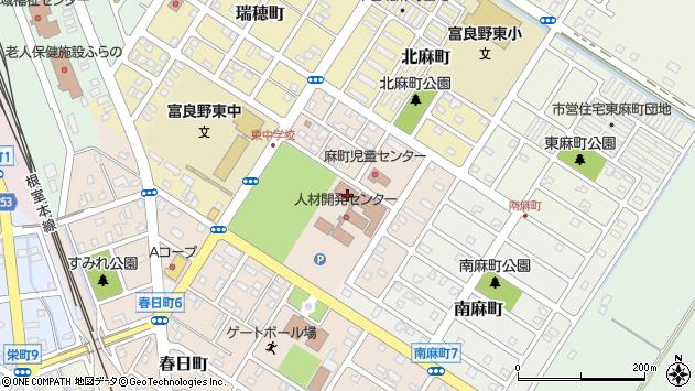 〒076-0055 北海道富良野市西麻町の地図