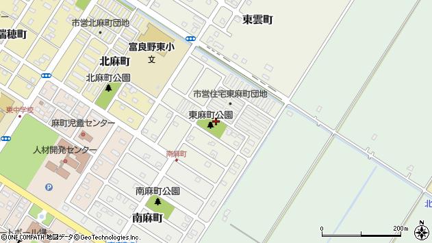 〒076-0051 北海道富良野市東麻町の地図