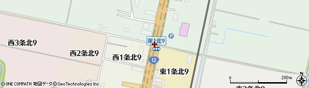 東1北9周辺の地図