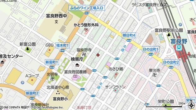 〒076-0031 北海道富良野市本町の地図
