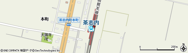 北海道美唄市周辺の地図