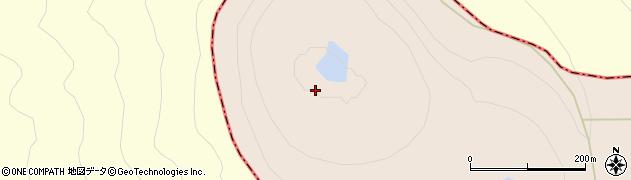 赤沼周辺の地図