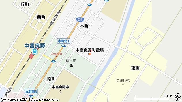 〒071-0700 北海道空知郡中富良野町(以下に掲載がない場合)の地図