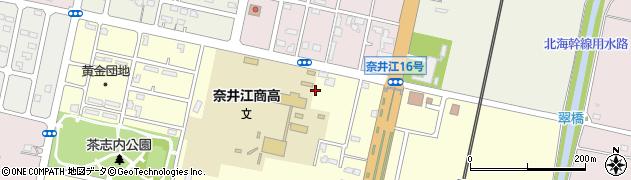 奈井江町役場 奈井江浦臼町学校給食センター周辺の地図
