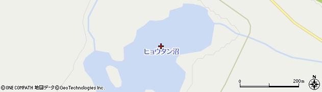 ヒョウタン沼周辺の地図
