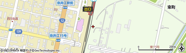 北海道空知郡奈井江町奈井江東町2区周辺の地図