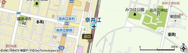 北海道空知郡奈井江町周辺の地図