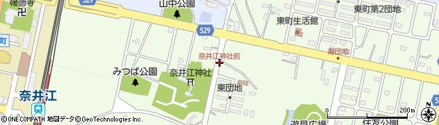 奈井江神社前周辺の地図