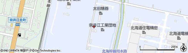 北海道北港運輸株式会社 奈井江営業所周辺の地図