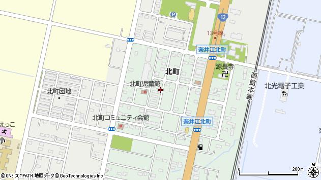 〒079-0312 北海道空知郡奈井江町北町の地図