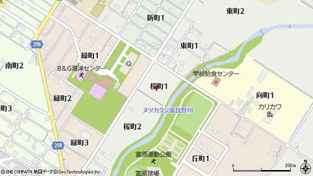〒071-0564 北海道空知郡上富良野町桜町の地図