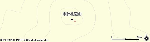 志計札辺山周辺の地図