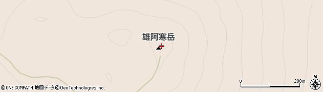 雄阿寒岳周辺の地図