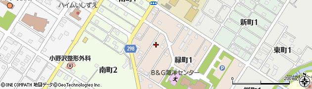 北海道空知郡上富良野町緑町1丁目周辺の地図