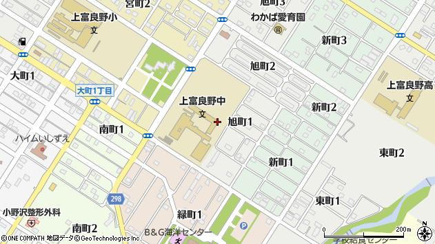 〒071-0553 北海道空知郡上富良野町旭町の地図