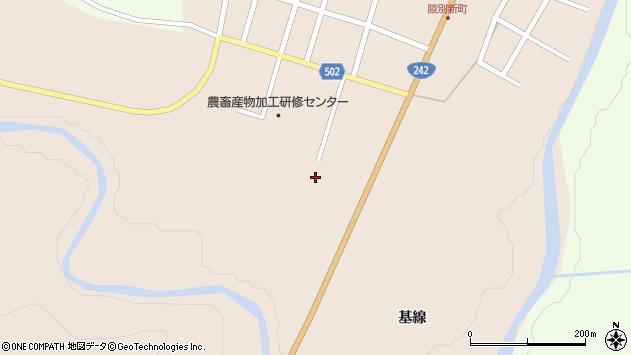 〒089-4323 北海道足寄郡陸別町新町二区の地図