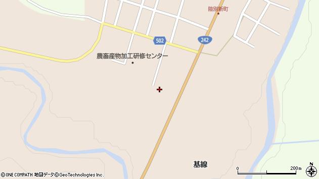 〒089-4322 北海道足寄郡陸別町新町一区の地図