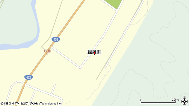 〒075-0163 北海道芦別市緑泉町の地図
