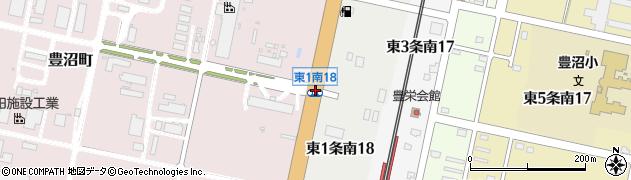 東1南18周辺の地図