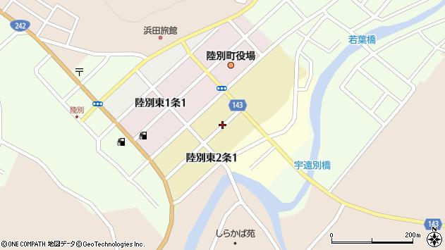 〒089-4313 北海道足寄郡陸別町共栄第一の地図